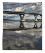 Clouds And Reflections Over Lake Champlain Fleece Blanket