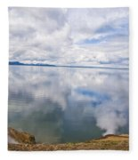 Clouds And Steam Fleece Blanket