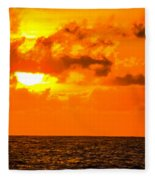 Clouds And Sun Play  Fleece Blanket