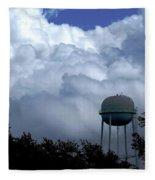 Clouds Around The Water Tower Fleece Blanket