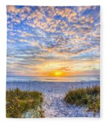 Clouds At Dawn Fleece Blanket