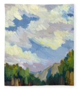 Clouds At Thousand Palms Fleece Blanket