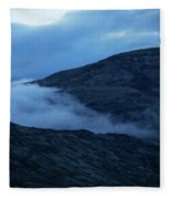 Clouds Cover The Mountains Of The Ice Fleece Blanket