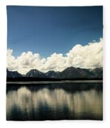 Clouds In The Grand Tetons Fleece Blanket