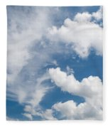 White Cirrus And Cumulus Clouds Formation Mix Fleece Blanket