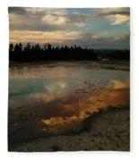 Clouds In The Water Fleece Blanket