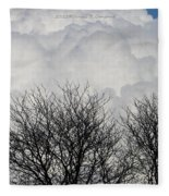 Clouds Named Cotton Fleece Blanket