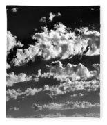Clouds Of Freycinet Bw Fleece Blanket