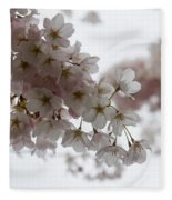 Clouds Of Soft Pink Blossoms - A Tribute To Spring Fleece Blanket