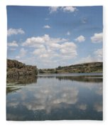 Clouds On Water Fleece Blanket