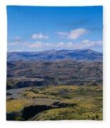 Clouds Over A Mountain Range, Torres Fleece Blanket