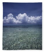 Clouds Over Bora Bora Fleece Blanket