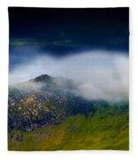 Clouds Over Bull Crag And Maiden Moor Fleece Blanket
