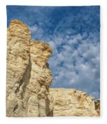 Clouds Over Chalk Pyramids Fleece Blanket