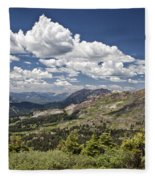 Clouds Over Crested Butte Fleece Blanket