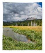 Clouds Over Hat Lake Fleece Blanket