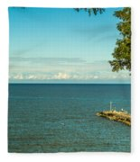 Clouds Over Lake Ontario Fleece Blanket
