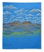 Clouds Over Lassen Fleece Blanket