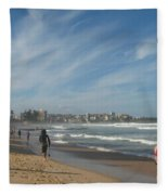 Clouds Over Manly Beach Fleece Blanket