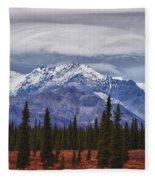 Clouds Over Mountains Fleece Blanket