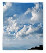 Clouds Over New Mexico Fleece Blanket