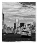 Clouds Over New York Fleece Blanket
