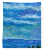 Clouds Over The Blue Ridge Fleece Blanket