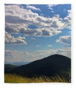 Clouds Over The Mountain Fleece Blanket
