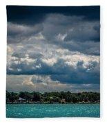 Clouds Over The River Fleece Blanket