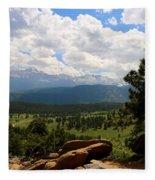 Clouds Over The Rockies Fleece Blanket