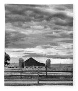 Clouds Over The Upper Midwest Fleece Blanket