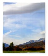 Clouds Over Timp Fleece Blanket