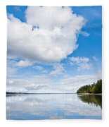 Clouds Reflected In Puget Sound Fleece Blanket