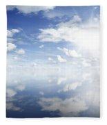 Clouds Reflected Fleece Blanket