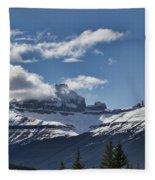 Clouds Sky Mountains Fleece Blanket