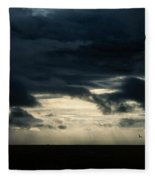 Clouds Sunlight And Seagulls Fleece Blanket