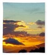 Clouds With Colors Fleece Blanket