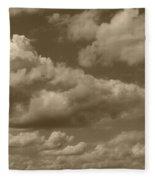 Cloudscape In Sepia Fleece Blanket