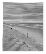 Cloudy Beach Morning Fleece Blanket