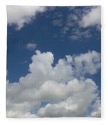 Cloudy Blue Sky Fleece Blanket