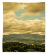 Cloudy Day In New Hampshire Fleece Blanket
