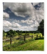 Cloudy Day In The Country Fleece Blanket