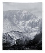 Cloudy Misty Pikes Peak Fleece Blanket