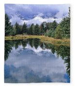 Cloudy Reflection Fleece Blanket