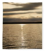 Cloudy Sunrise Fleece Blanket
