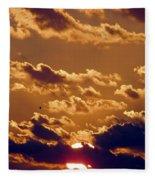 Key West Cloudy Sunset Fleece Blanket