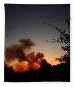 Clover Fire At Night Fleece Blanket