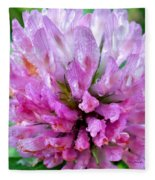 Clover Flower Upclose Fleece Blanket