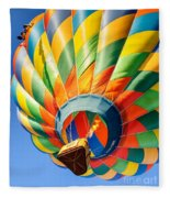 Clovis Hot Air Balloon Fest 5 Fleece Blanket