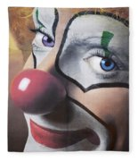 Clown Mural Fleece Blanket